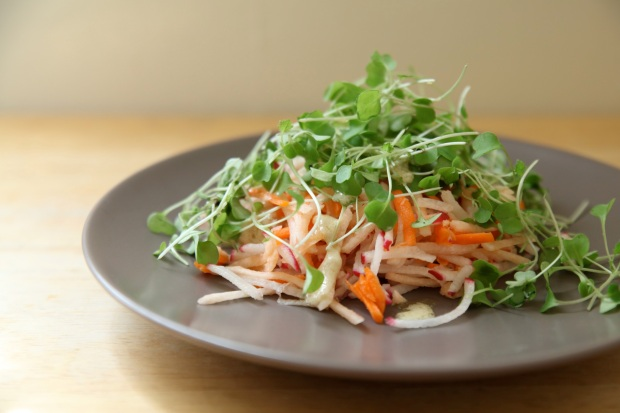jicama-carrot-radish-slaw-with-ginger-tahini-salad-dressing