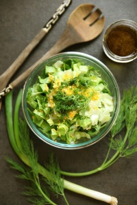 minced-dill-scallion-romaine-salad-with-lemon-zest-balsamic-vinaigrette