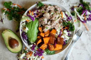 pork-shoulder-salad-with-sweet-potato-avocado