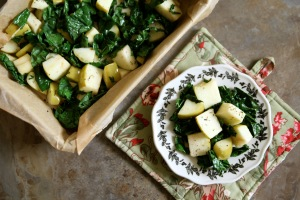 roasted-kale-apple-with-herbs-de-provence